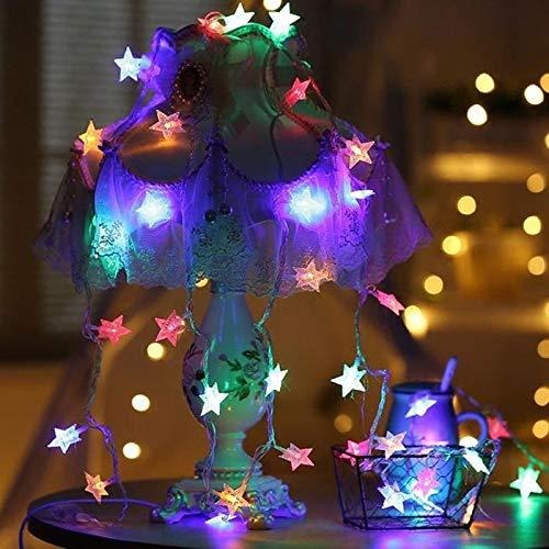 Tomasa LED-Weihnachtslichter Sternlichter 3.5/ 5M,batteriebetriebene Star Light String Weihnachten Fairy Light Urlaub Dekoration (Multicolor/3.5M) -