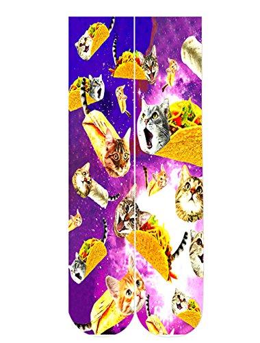Chicolife Personality Pizza Katze Muster Socken für Herren und Frauen Fashion Style