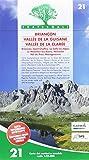 Carta n. 21. Briançon, Vallée de la Guisane, Vallée de la Clarée. Carta dei sentieri e stradale scala 1:25.000