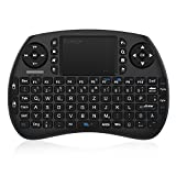 EgoIggo Mini Tastatur 2.4GHz Wireless drahtlose Mini Keyboard mit Touchpad-Maus, wiederaufladbarer Batterie für Smart TV, Android TV Box, PC, Mini PC, Laptop (QWERTZ)