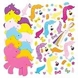 """Mix & Match-Deko-Aufhänger """"Pretty Pony"""" für Kinder zum Gestalten und Aufhängen – Bastelsets für Kinder (6 Stück) von Baker Ross"""