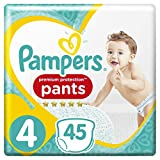Pampers Premium Protection Pants, Misura 4, (9-15 kg),confezione da (2 x 45 pezzi)