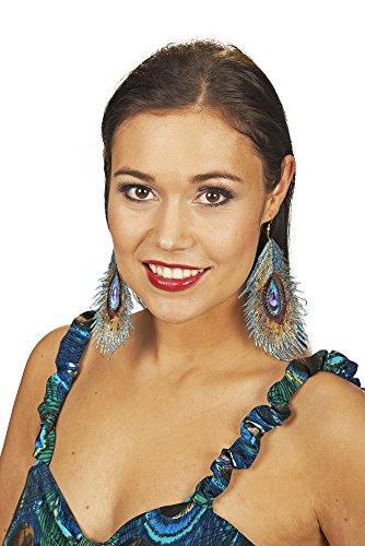 Andrea Moden Samba Ohrringe für Pfauen Kostüm - Toller Schmuck für Brasilien Kostüm