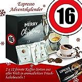 Geschenke zum 16. | Weihnachtskalender | Kalender Advent Frauen Kalender Advent Männer Kalender Advent Kaffeebohnen Adventskalender Espresso Adventskalender Espresso