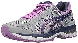 ASICS Womens Gel-Kayano 22 Running Shoe, Silver/Violet/Deep Cobalt, 6 M US