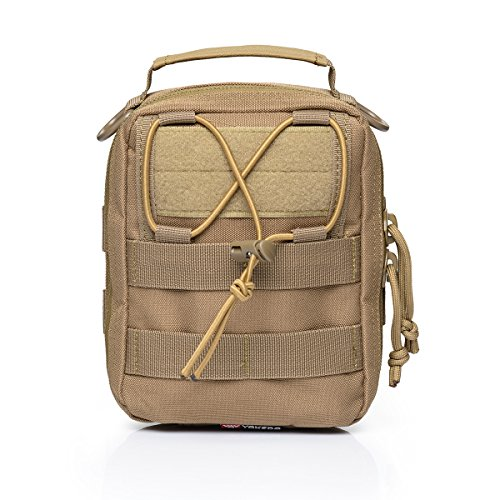 YAKEDA Tactical MOLLE EMT Utility Beutel Werkzeugtasche 900D (nur Tasche) -TL038-1 (Khaki) (Rädern-polyester Auf)