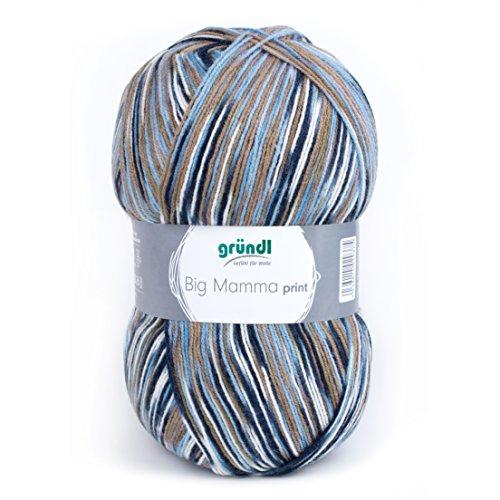 Gründl gomitolo 400 g, lunghezza circa 1040 m braun-blau multicolor