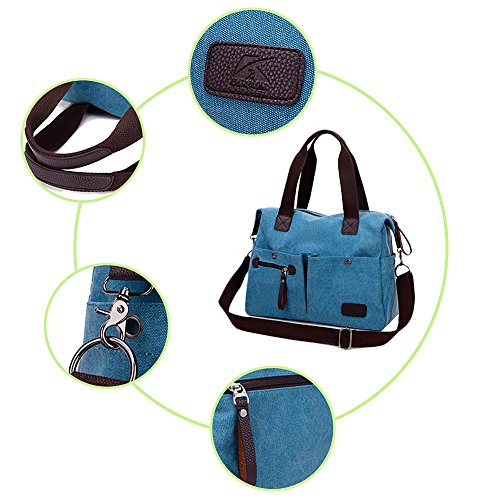 Butterme Sacchetto di spalla della tela di canapa delle donne Sacchetto quotidiano di lavoro borsa della borsa Borsa di acquisto del sacchetto di acquisto di fine settimana di borsa Cachi