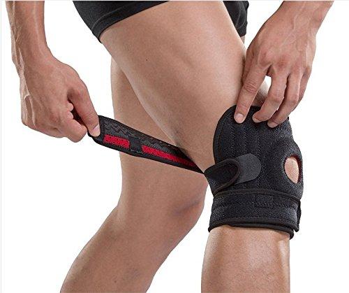PintoMed Einstellbare Neopren Kniebandage. Mit Kniescheibe stabilisierendes gummipolster für arthritische Schmerzen Meniskus verletzungen Sportverletzungen rehabilitation schutz vor neue Verletzungen -