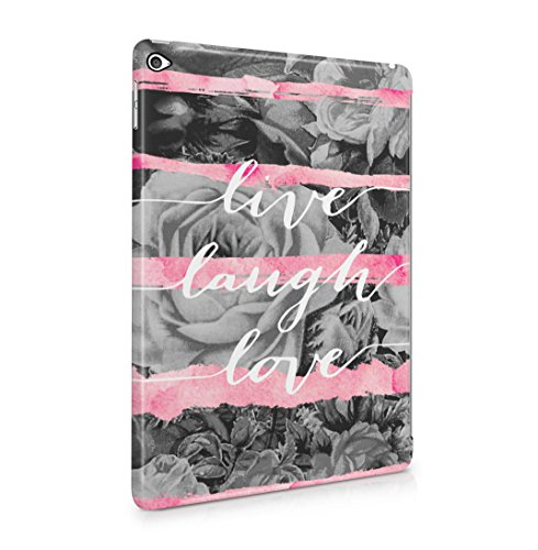 live-laugh-love-pink-watercolor-stripes-rose-blossoms-hard-thin-plastic-tablet-case-cover-for-ipad-a