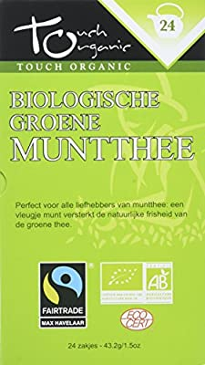 Touch organic Thé Vert à la Menthe Bio 24 Sachets 43 g - Lot de 3