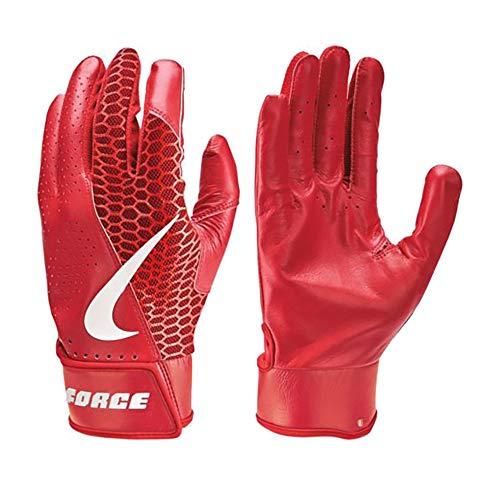 Nike Force Edge Leder Baseball Handschuhe, Batting Gloves - rot Gr. 2XL