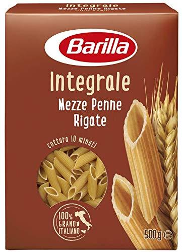 Barilla Pasta Integrale Mezze Penne Rigate Semola Integrale di Grano Duro - 500 g