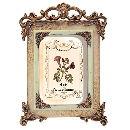 PETAFLOP Bilderrahmen Vintage Fotorahmen Antik Rahmen Deko 10x15