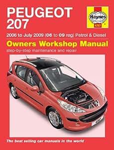 peugeot 207 repair manual haynes manual service manual workshop rh amazon co uk Peugeot Toy Car Peugeot EX1