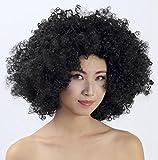 Longless Testa di brillamento parrucca testa rotonda a manicotto Curly Party Party Pro