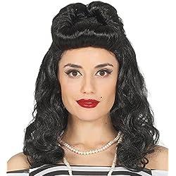 Guirca 4091 - Peluca Negra Pin Up Girl En Caja