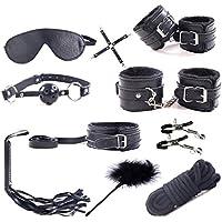 MUQU - Juego de Ropa de Cama, Apto para la mayoría de Las Personas, Ropa de Cama, Juguetes para Juegos sexuales (Black)