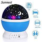 Night Light for Children, Sendis Baby Star Projector Night Bedside Light Kids Rotating