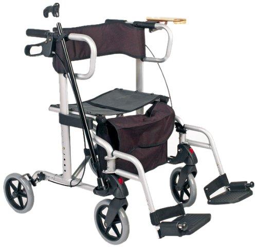 Servoprax Duo-Deluxe M4 12295 - Andador y silla transportadora 2 en 1