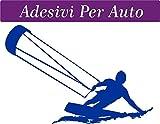 1 ADESIVO PER AUTO - 10x15 centimetri - KITE - KITESUR - KITESURFING - NOVITà!! auto moto camper - accessori surf windsurf kite kitesurfer, stickers, decal