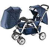 Poussette bébé Twins Double Foldable Chariot Quatre roues Évitez les vibrations Peut s'asseoir et se coucher Multifonctionnel Joggeur Landau
