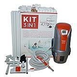 Zentralstaubsauger Set VAC Digital 1.6 mit 8M Saugschlauch inkl. elektronischer Saugkraftregulierung, 15m Vakuumrohr, 3 Saugdosen, uvm...