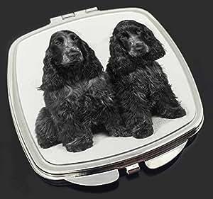 Blaue Roan Cocker Spaniel Hunde Make-up Taschenspiegel Weihnachtsgeschenk