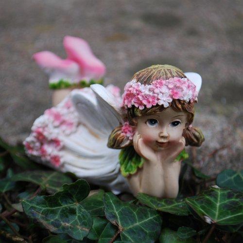 Set di due fate dei fiori sdratiate in resina ornamenti for Ornamenti giardino