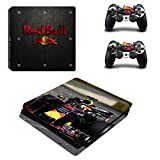 PS4 SLIM Vinyl Skin Sticker Autocollant pour Console & 2 Dualshock Manette Formula 1 F1 Red Bull RB14 Racing