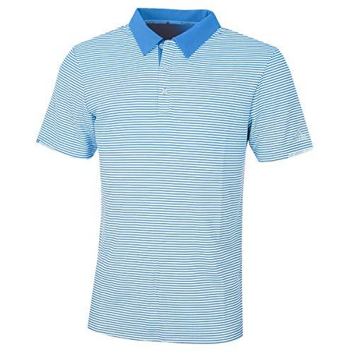 adidas Herren Climachill Tonal Stripe Polo Shirt Poloshirt Blau (Azul Dq2241) X-Large - Adidas Golf Shirt
