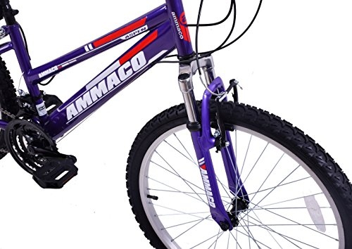 "51prgViVyhL - Ammaco ASPEN WOMENS 20"" FRAME 21 SPEED FRONT SUSPENSION 26"" WHEEL MOUNTAIN BIKE PURPLE"