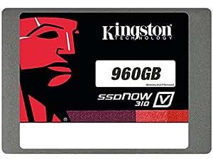 Kingston V310 SSD da 960GB, Sata3, Nero/Rosso
