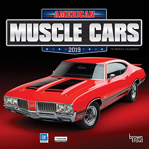 American Muscle Cars 2019 Mini Wall Cale por Browntrout Publishers