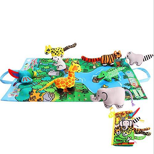 Weiches Buch des Babys, Dreidimensionales Stoffbuch, Früherziehung 6-12 Monate Baby 0-1-3 Jahre Alt Baby Kinderspielzeug Träne Nicht Schlecht