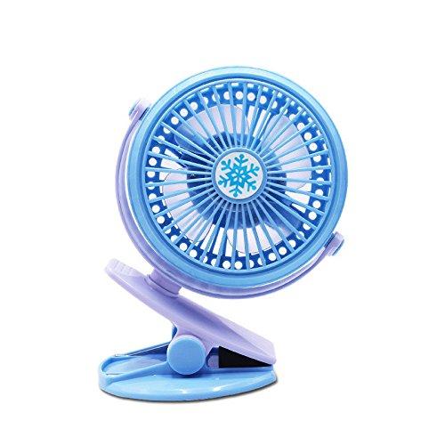 ZEELIY Tragbare Mini Clip Fan akku USB Schreibtisch Fan für Kinderwagen Sicherheit \u0026 Auto 丨 USB + Batterie-Doppelclip 360 Grad drehbarer Lüfter