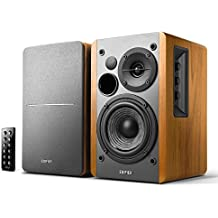 Edifier R1280DB Powered Bluetooth Bookshelf Speakers with Wireless Studio Monitors and 4-inch Near Field Speaker(Brown)
