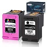 OfficeWorld Remanufactured HP 301XL 301 XL Druckerpatronen für HP Deskjet 1010 1050 1510 2050 2540 2544 3050 1050A 2050a 3050A 3055A Envy 4500 5530 5534 Officejet 2620 4630 4632 4634 (Schwarz, Farbe)