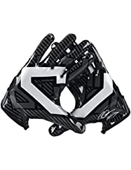 Gants de Football Américain de receveur Nike CJ81 Elite - Dark Grey/Black/Metallic Silver/White