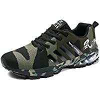 ef417b7519ad Kuako Men Women Running Shoes Air Trainers Fitness Casual Sports Walk Gym  Jogging Athletic Sneakers Black