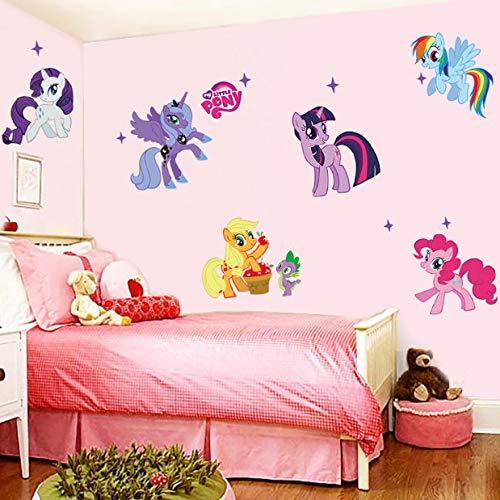 hfwh Wandaufkleber Cartoon Mein Kleines Pony Für Kinder Zimmer Dekoration Tier Einhorn Wand Bild Kunst PVC Film Poster Home Aufkleber 59x104cm