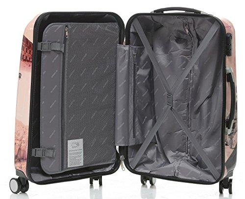 Polycarbonat Hartschale Koffer 2060 Trolley Reisekoffer Reisekofferset Beutycase 3er oder 4er Set in 12 Motiven (Tower) - 8