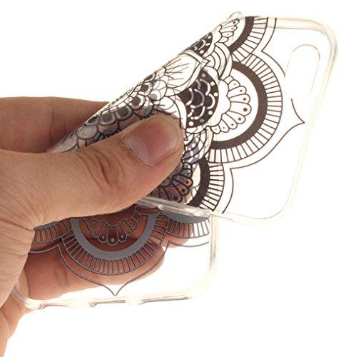 Nnopbeclik Silikon Transparent Hülle Für Apple Iphone 6 / 6S, Ultra Slim Weich TPU Cover Case Neu Design Super Durchsichtig Hohl Luxus Bling Blume Case Etui, Schutzhülle Muster Glänzend Glitzer Strass #12