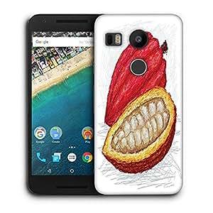 Snoogg cacao pod open Designer Protective Back Case Cover For LG Nexus 5X