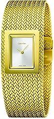 Idea Regalo - Calvin Klein K5L13536 - Orologio da polso Donna, Acciaio inox, colore: Oro