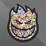 erreinge Decal Fireball Skate Wheels Skateboard Sticker Bomb - Decal Cars Motorcycles Helmet Wall Camper Bike Adesivo Adhesive Autocollant Pegatina Aufkleber - cm 10