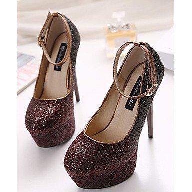 Moda Donna Sandali Sexy donna estate tacchi tacchi Glitter Casual Stiletto Heel scintillanti Glitter viola / rosso borgogna altri Purple