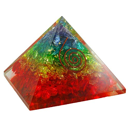 Harmonize Multi-Stone Pyramid Reiki Healing Crystal Energy Generator Orgonite Chakra by HARMONIZE