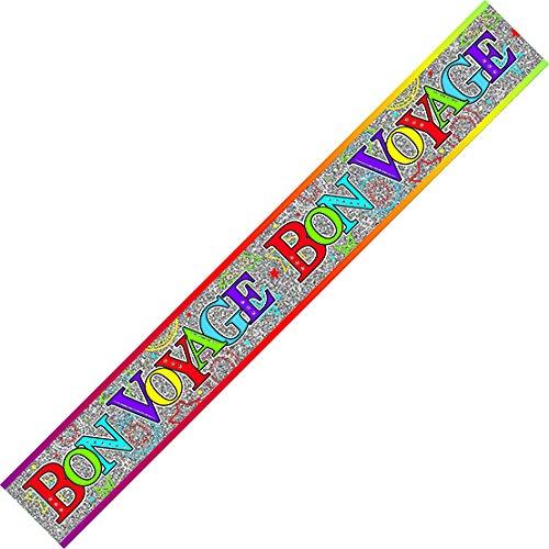 Bon Voyage Multicoloured Goodbye Banner Male or Female Celebration Pennant
