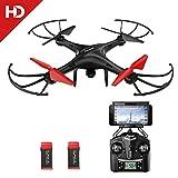 Potensic U48W Drone avec caméra HD, 2.4Ghz RC Drone RTF Hauteur-fixe pour Photographie aérienne UFO WiFi HD Camera
